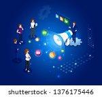 vector isometric illustration.... | Shutterstock .eps vector #1376175446