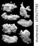 Cloud Isolated Black Background - Fine Art prints