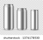 realistic aluminum cans. blank... | Shutterstock .eps vector #1376178530
