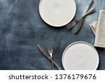 White Craft Plate  Cutlery And...