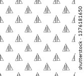 triangles. seamless black and... | Shutterstock . vector #1376181650