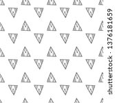 triangles. seamless black and... | Shutterstock . vector #1376181659