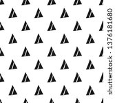 triangles. seamless black and... | Shutterstock . vector #1376181680