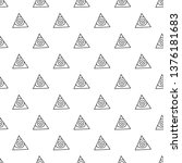 triangles. seamless black and... | Shutterstock . vector #1376181683