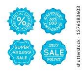 set of bright blue sale retro... | Shutterstock . vector #1376183603