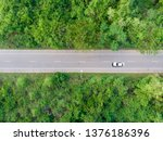 aerial view of the road passing ... | Shutterstock . vector #1376186396