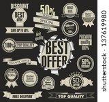 set of vector badges  labels... | Shutterstock .eps vector #137619980