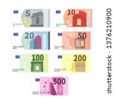large set of different euro... | Shutterstock . vector #1376210900
