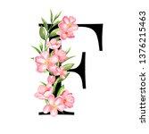 alphabet. letter f  monogram... | Shutterstock . vector #1376215463