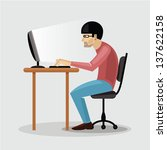 illustration of tired man...   Shutterstock .eps vector #137622158