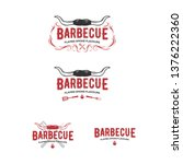 set of grill and barbecue... | Shutterstock .eps vector #1376222360