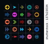 25 arrow sign icon set. set 02...