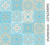 portuguese azulejo ceramic tile ... | Shutterstock .eps vector #1376234093