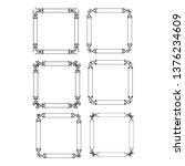 set of vector vintage frames... | Shutterstock .eps vector #1376234609