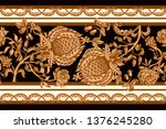seamless border with vintage...   Shutterstock .eps vector #1376245280