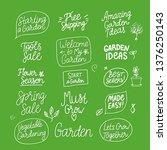 vector set spring garden... | Shutterstock .eps vector #1376250143