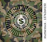 laurel wreath with money symbol ... | Shutterstock .eps vector #1376264150