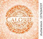 calorie orange tile background... | Shutterstock .eps vector #1376264219