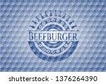 beefburger blue emblem or badge ... | Shutterstock .eps vector #1376264390