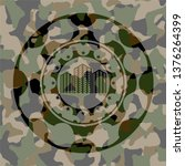buildings icon on camouflage... | Shutterstock .eps vector #1376264399