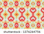ikat geometric folklore... | Shutterstock .eps vector #1376264756