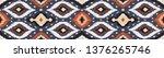 ikat geometric folklore... | Shutterstock .eps vector #1376265746