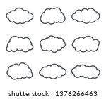 simple outline clouds set.... | Shutterstock .eps vector #1376266463