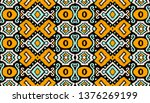 ikat geometric folklore... | Shutterstock .eps vector #1376269199