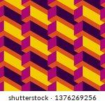 isometric seamless pattern ... | Shutterstock .eps vector #1376269256