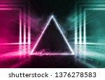 empty background scene. rays of ... | Shutterstock . vector #1376278583
