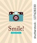 smile camera poster | Shutterstock .eps vector #137628230