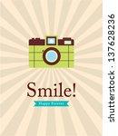 smile camera poster | Shutterstock .eps vector #137628236