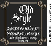 font. typeface. script. old...   Shutterstock .eps vector #1376304203