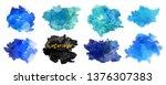vector watercolor background.... | Shutterstock .eps vector #1376307383
