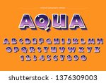 glossy bold colorful typography ... | Shutterstock .eps vector #1376309003