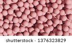 plenty of pink balls. abstract... | Shutterstock . vector #1376323829
