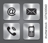 metal contact buttons   set... | Shutterstock .eps vector #137633060