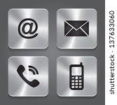 metal contact buttons   set... | Shutterstock .eps vector #137633060