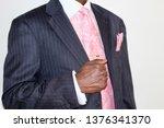 an african american man in a... | Shutterstock . vector #1376341370