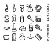 cosmetology set of linear icons.... | Shutterstock .eps vector #1376343653