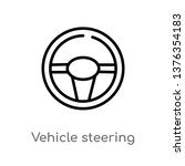 vehicle steering wheel vector... | Shutterstock .eps vector #1376354183