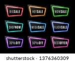 big sale  wow sale  shop now ... | Shutterstock .eps vector #1376360309