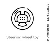 steering wheel toy vector line... | Shutterstock .eps vector #1376363639