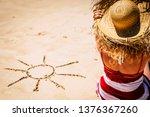 summer holiday vacation concept ...   Shutterstock . vector #1376367260