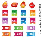 big sale colorful labels set ... | Shutterstock .eps vector #137637434