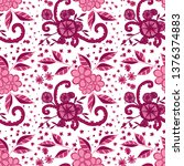 seamless pattern with little... | Shutterstock .eps vector #1376374883