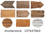 collection of various  empty... | Shutterstock . vector #137637863