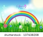 Colorful Background With Sprin...