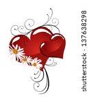 floral heart   vector | Shutterstock .eps vector #137638298
