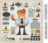 office infographics. vector... | Shutterstock .eps vector #137638520